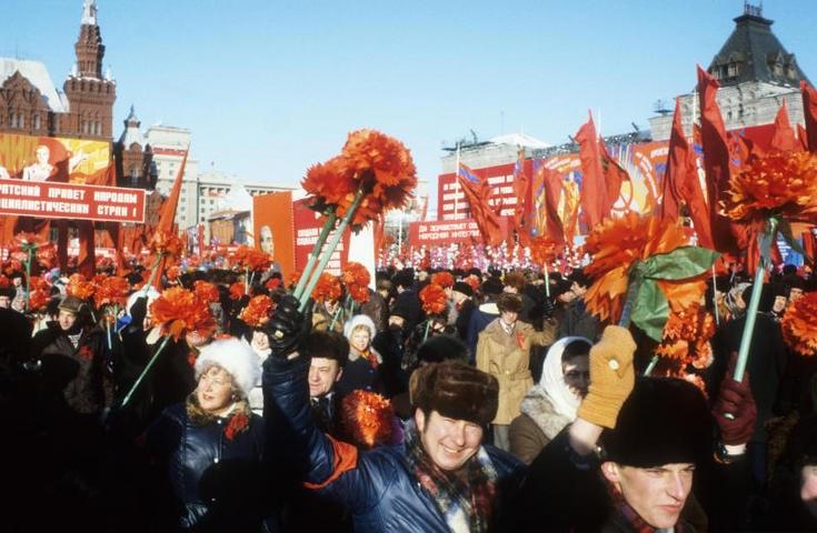 Празднование 7 ноября в Москве