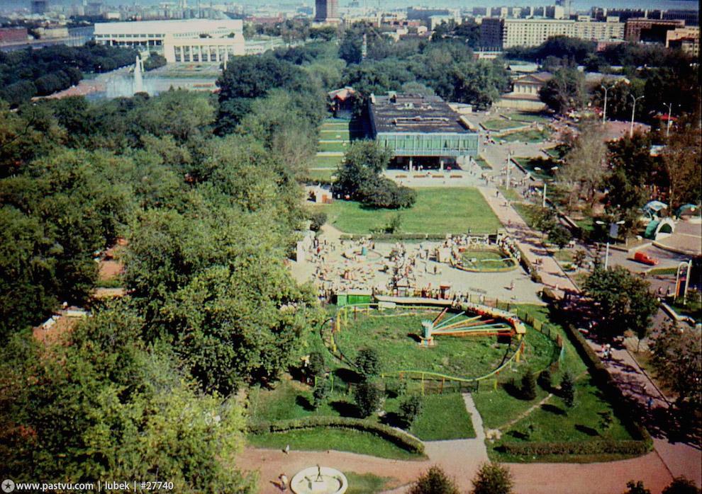 Парк Горького, вид сверху