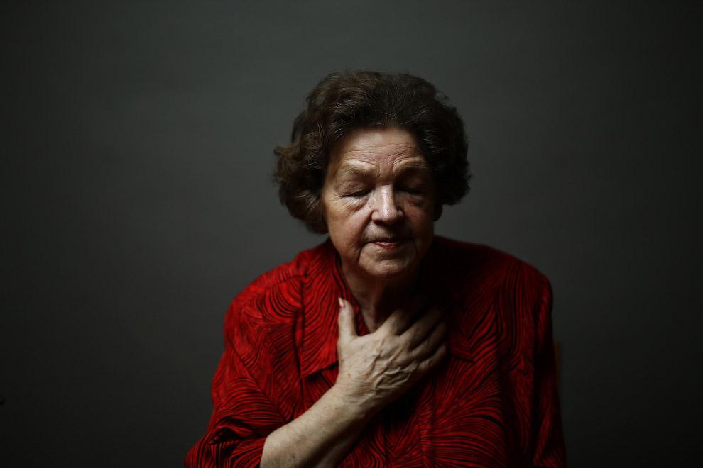80-летняя узница лагеря Освенцим, была отправлена туда вместе с матерью