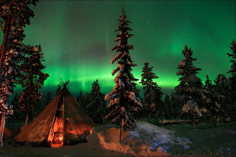 Северное сияние и чум в Швеции