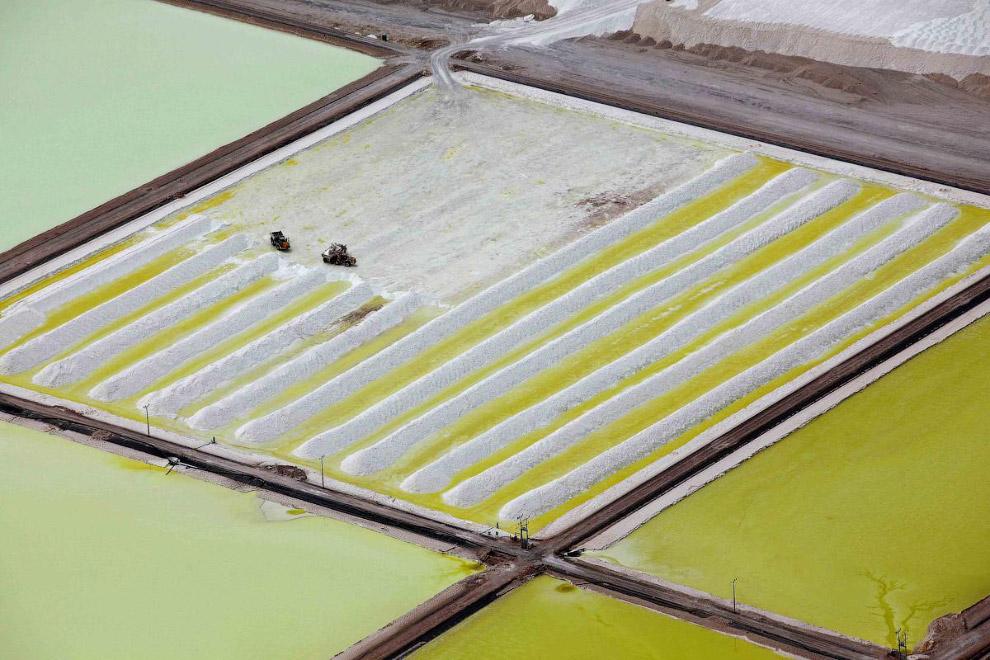 Соляные бассейны в Чили