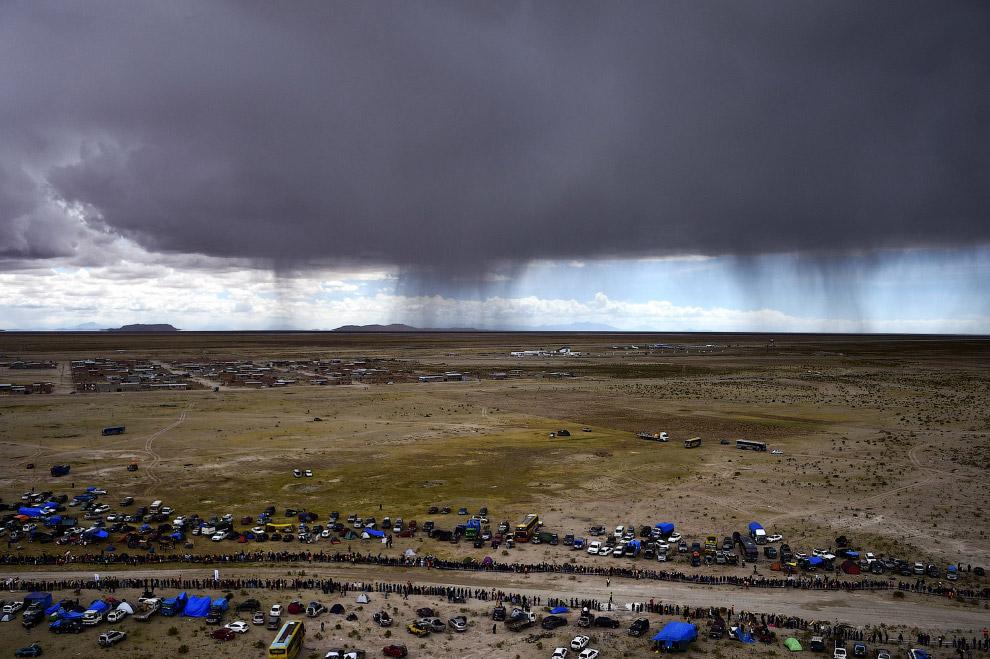 Финишная черта 7 этапа ралли Дакар 2015