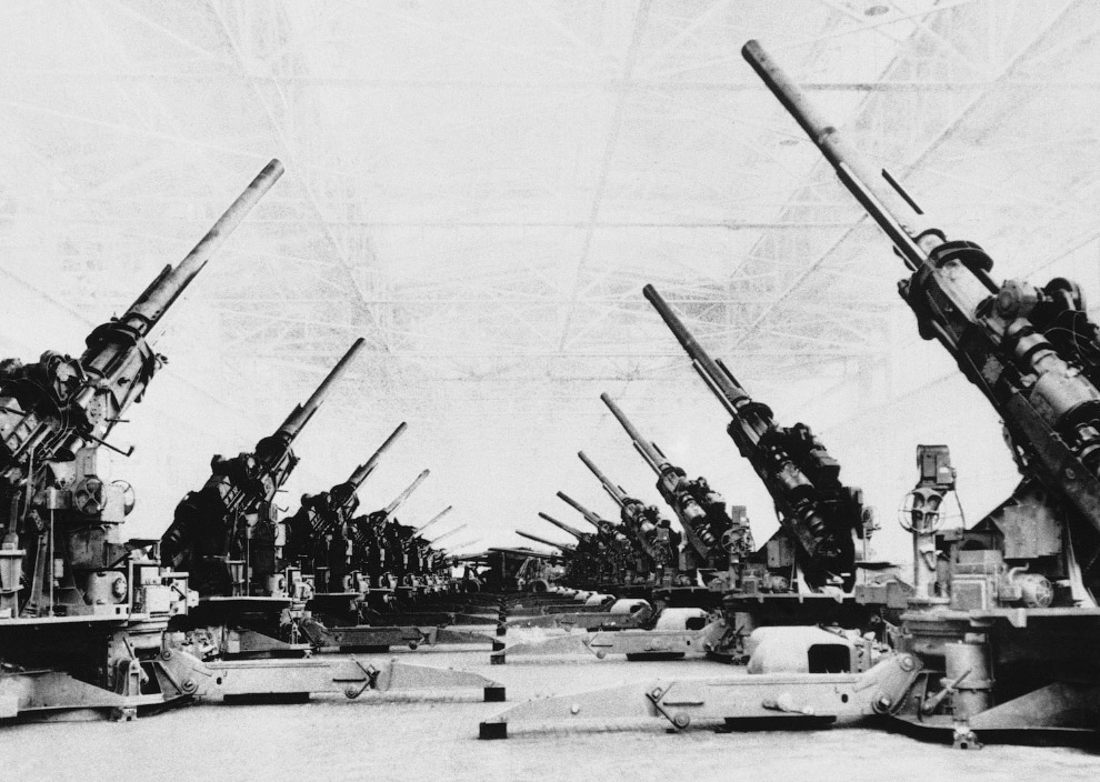 Зенитные орудия, выпущенные в Детройте