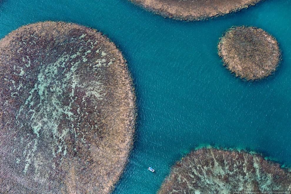 Причудливые формы коралловых рифов