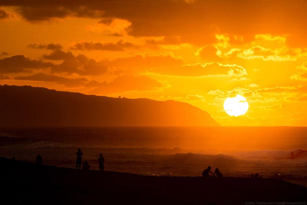 Полет над Гавайями. Остров Оаху