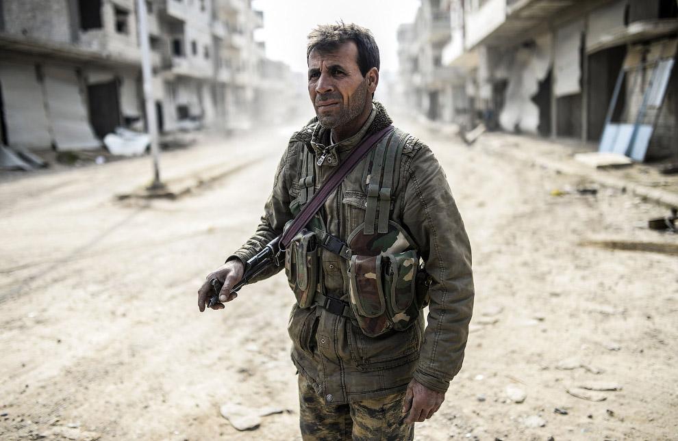 Бойцы курдского отряда народной самообороны