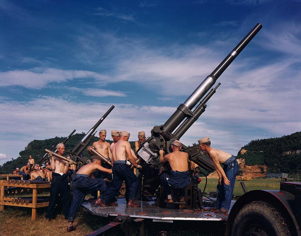 Зенитные орудия.