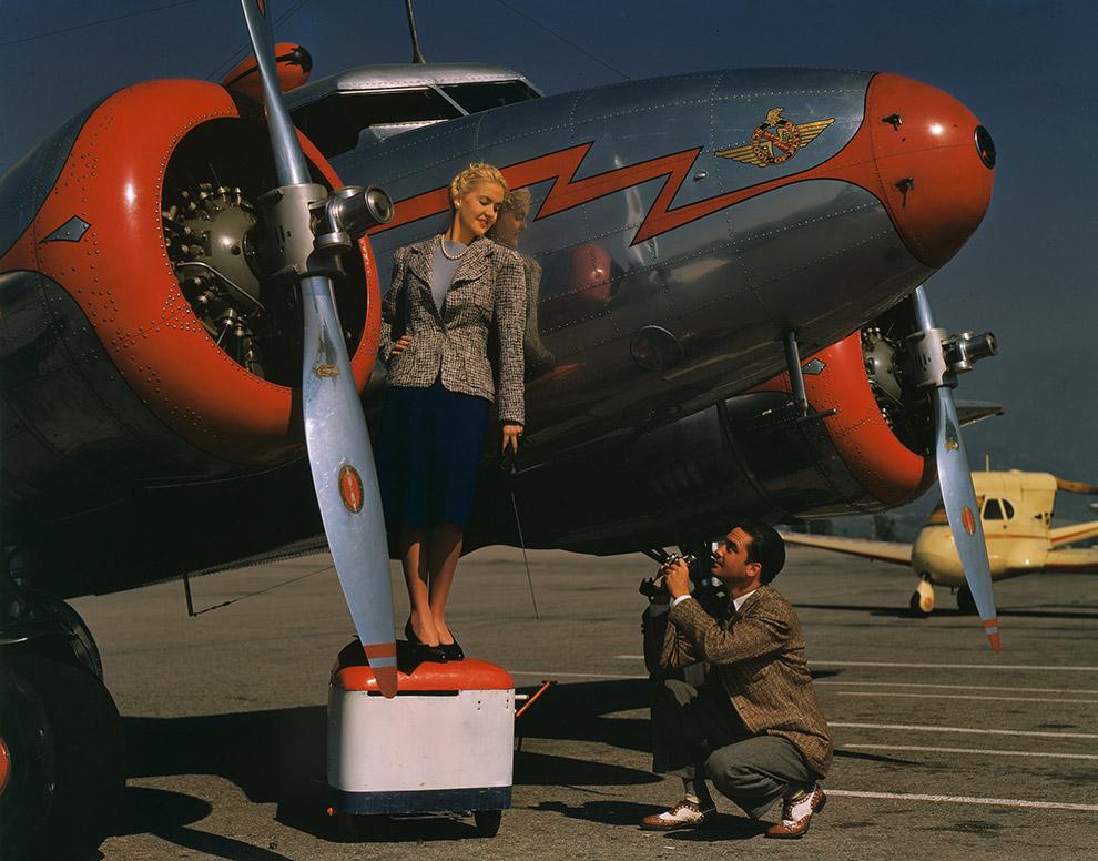 Американская актриса Элис Фэй и фотограф.