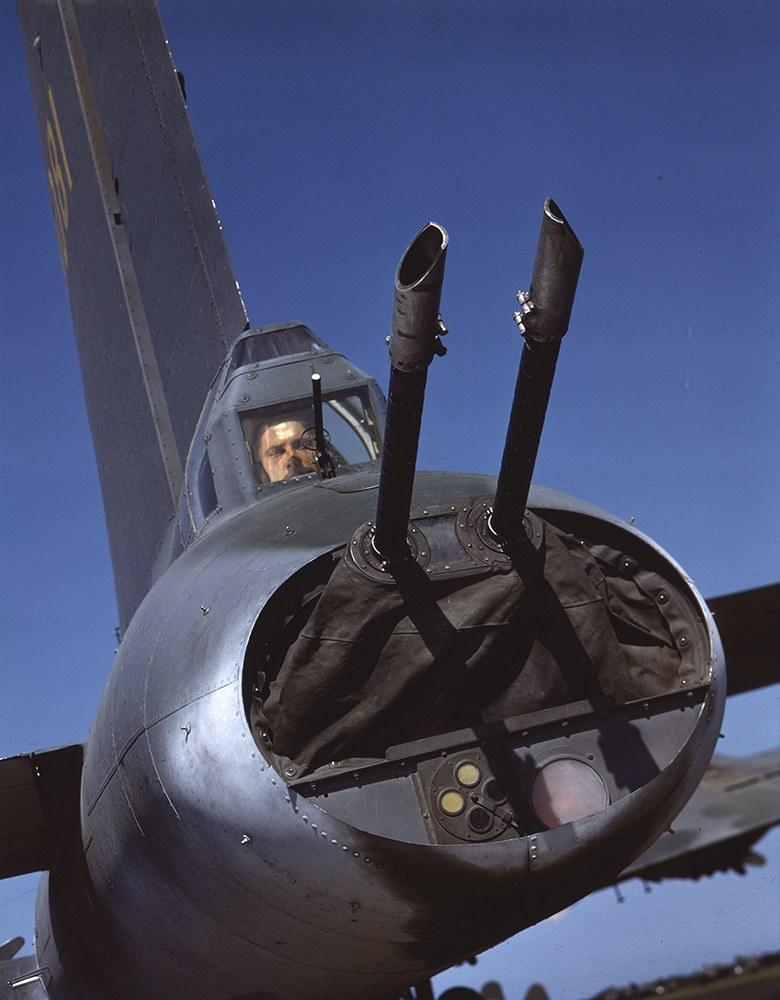 Хвостовой пулемет Boeing B-17 Flying Fortress.