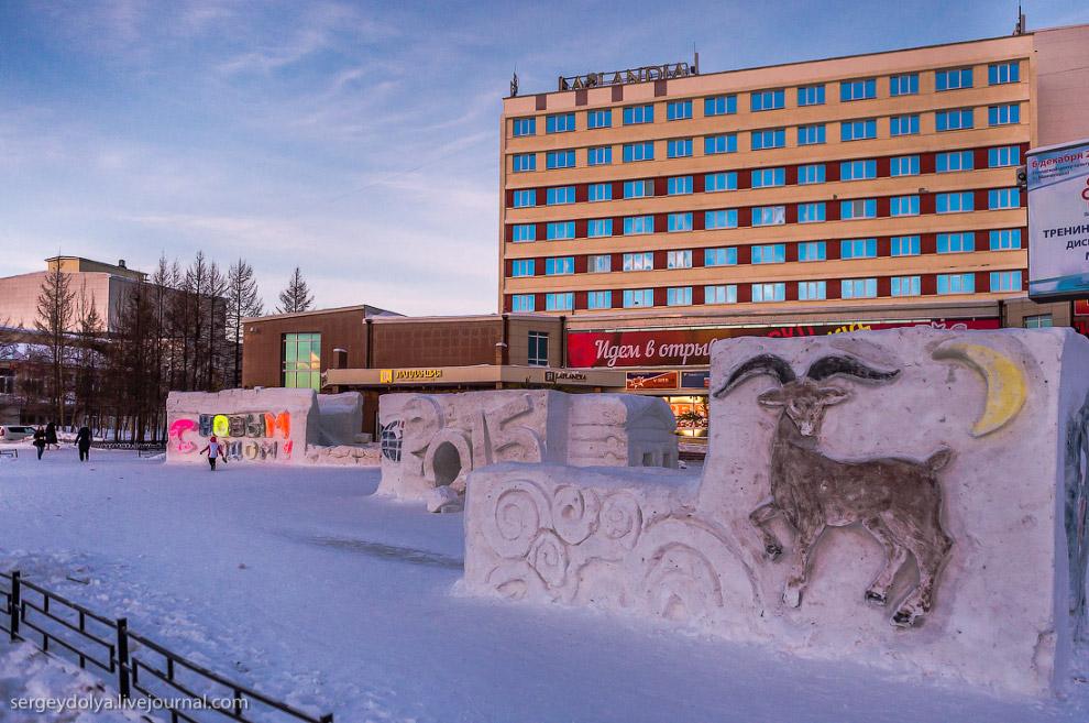 Площадь Мончегорска засветилась в фильме: