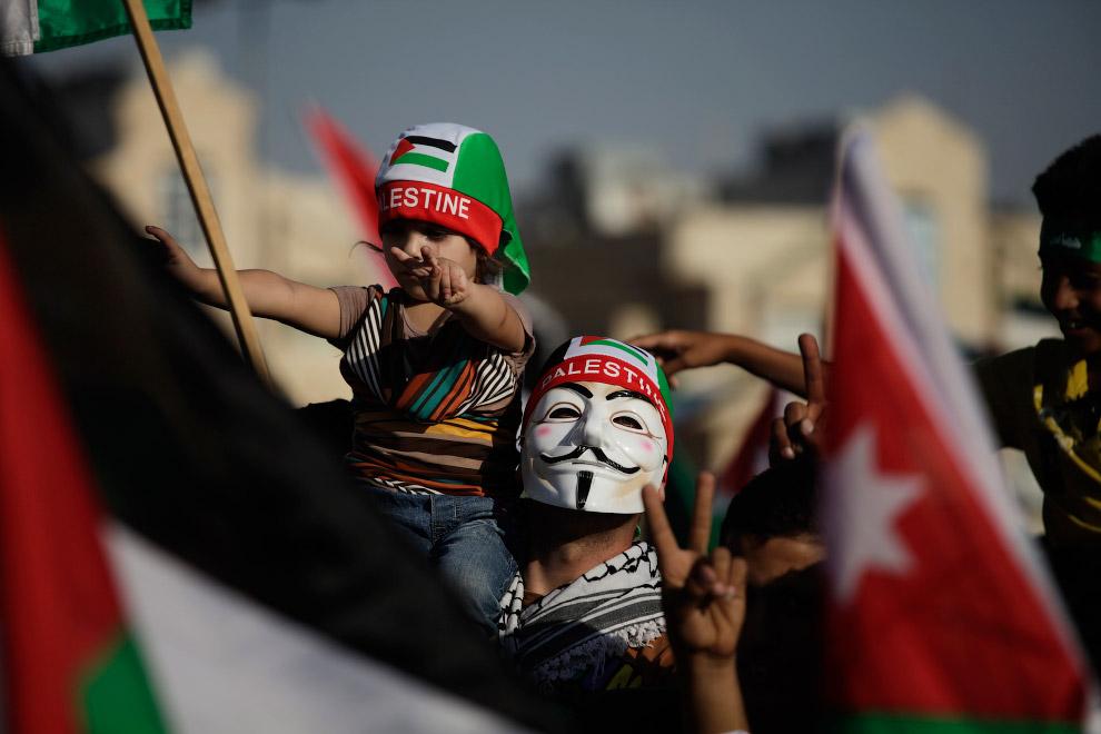 Иордания. Празднование «победы ХАМАС над Израилем»