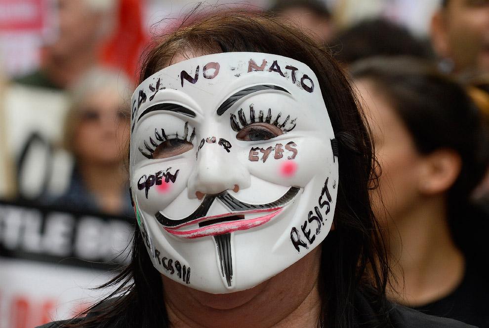 Антивоенный марш в Уэльсе