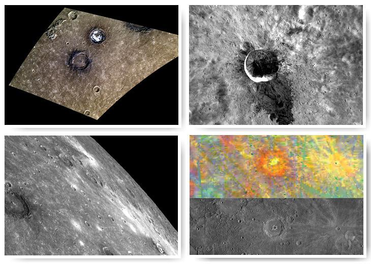Межпланетная станция «Мессенджер»: лучшие фотографии Меркурия за 2014 год