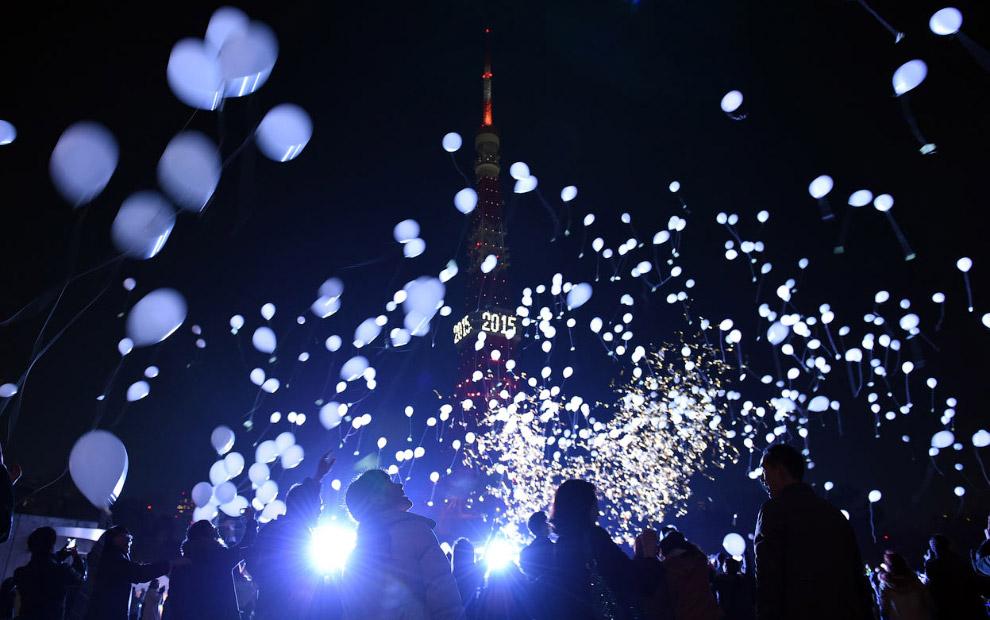 Воздушные шары и Новый год в Токио