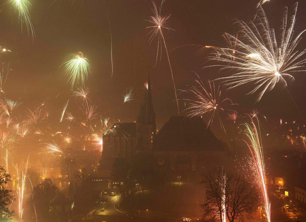 Новый год в Эрфурте, Германия