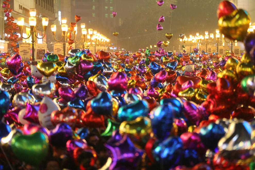 Новый год в Чунцине, Китай