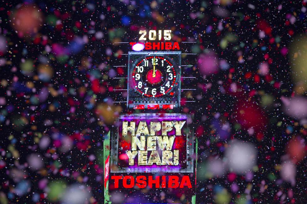 Встреча Нового года 2015 на Таймс-Сквер, Нью-Йорк
