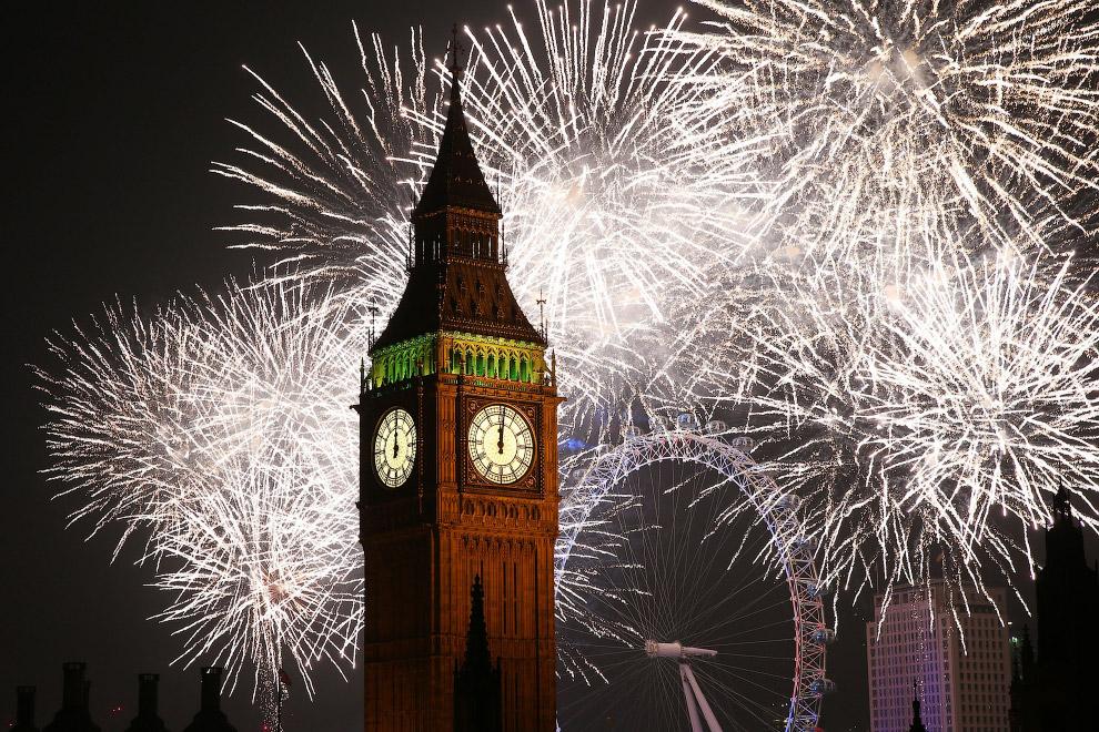 Новый год в центре Лондона