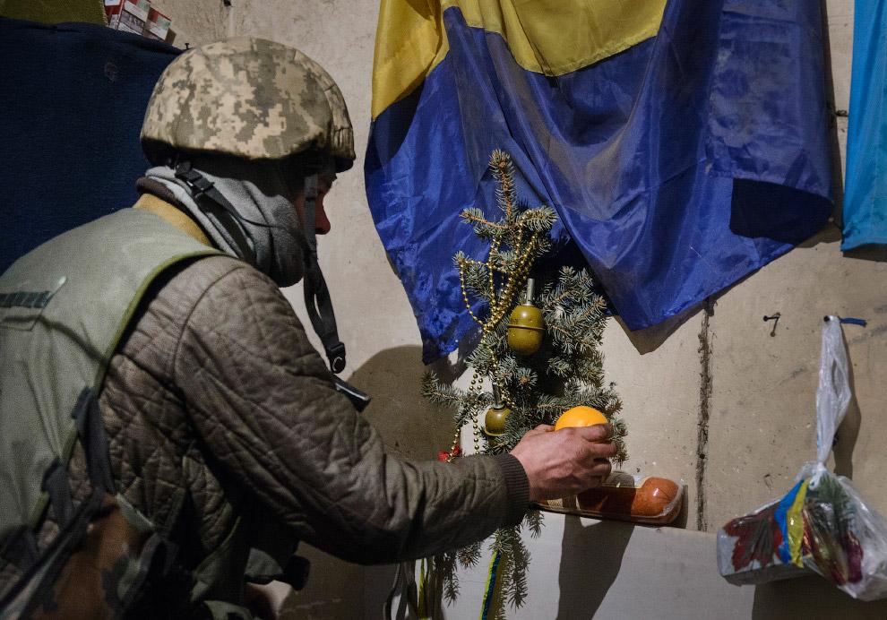 Новый год на востоке Украины