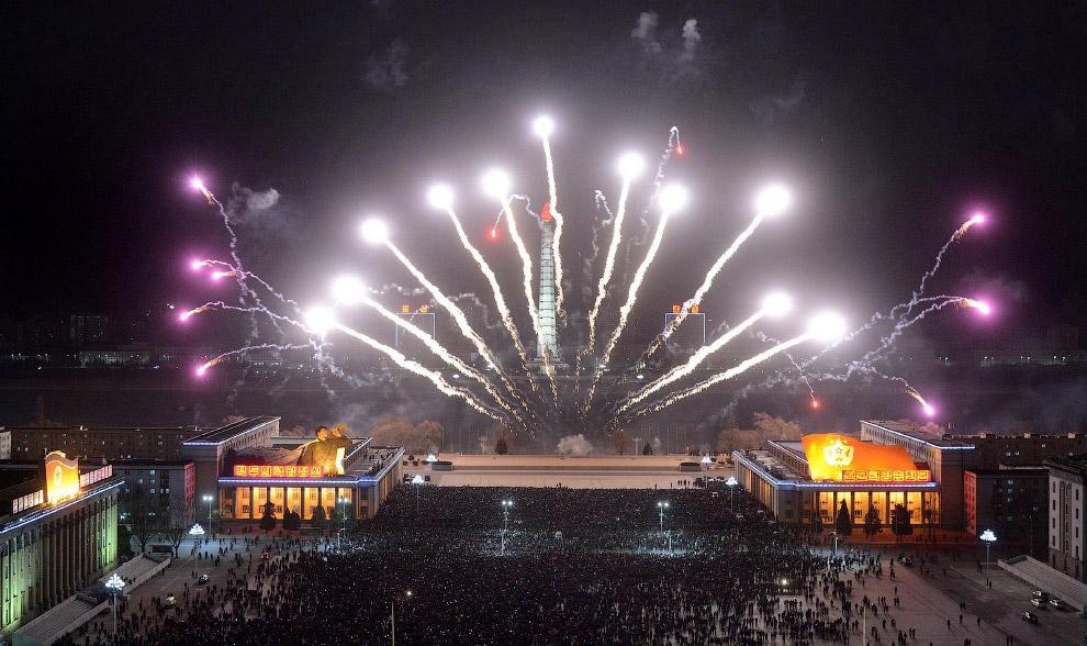 Встреча Нового года 2015 в Северной Корее в Пхеньяне