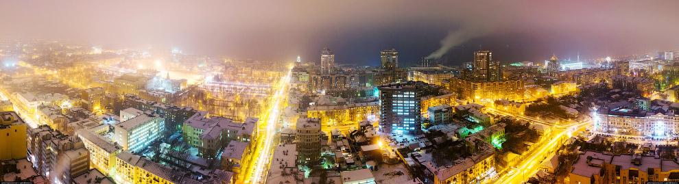 Панорама с самого высокого здания Самары