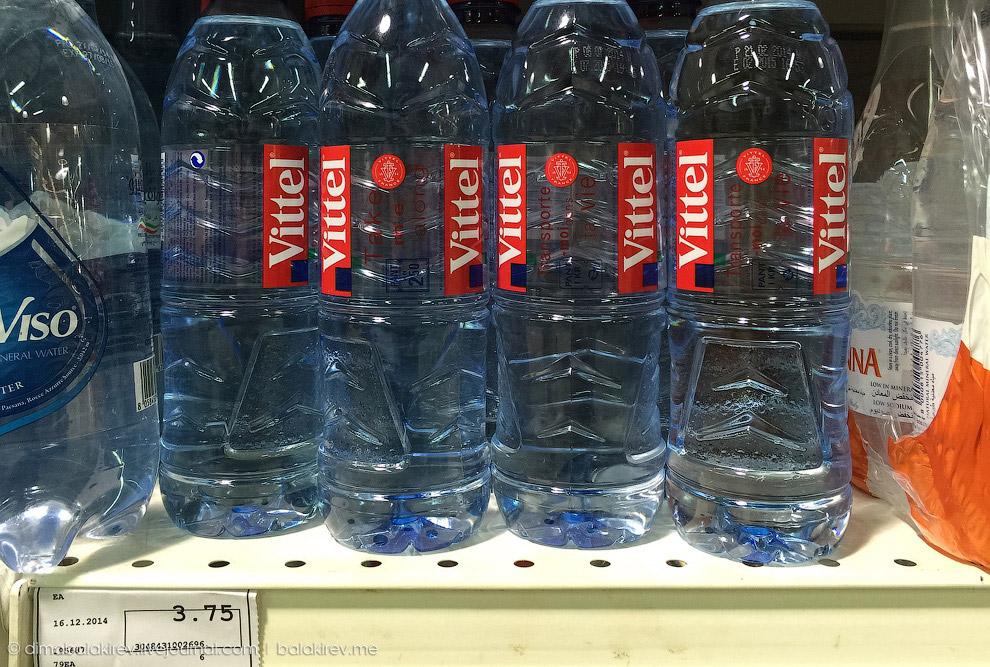 Бутылка питьевой воды Vittel за 67 рублей