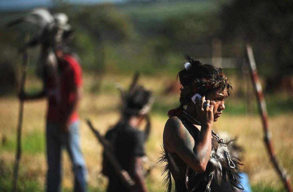 Племя недалеко от южной границы с Парагваем