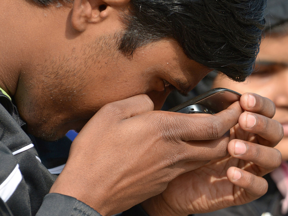 На первом чемпионате по дзюдо для слепых в Нью-Дели