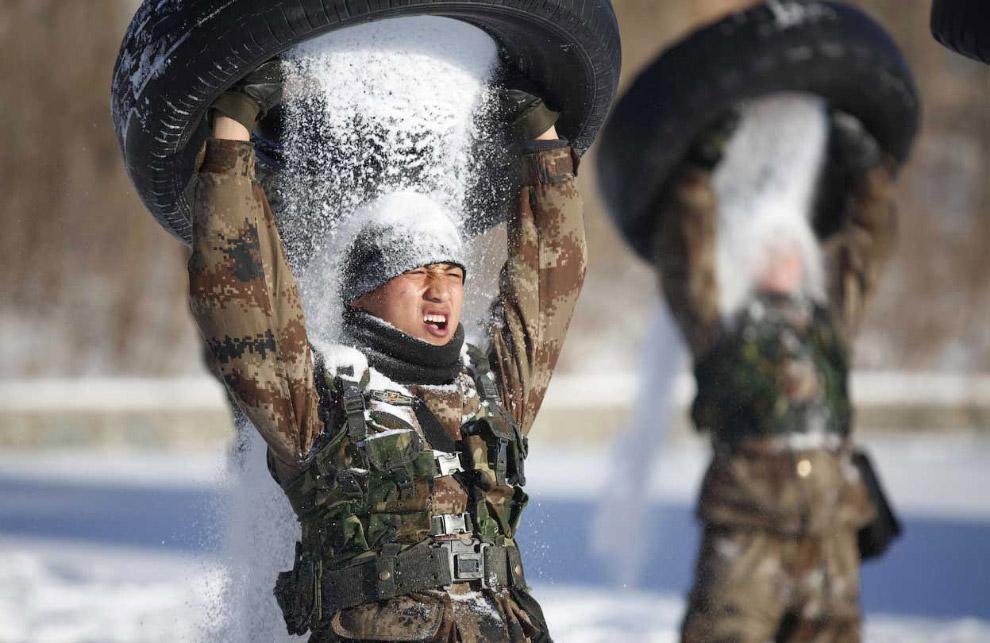 Учения военных в северо-восточной провинции Китая Хэйлунцзян
