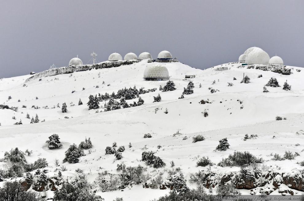 Радары в снегу