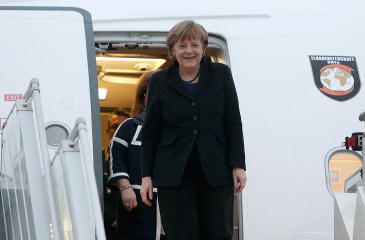 Канцлер Германии Ангела Меркель прибыла в Минск