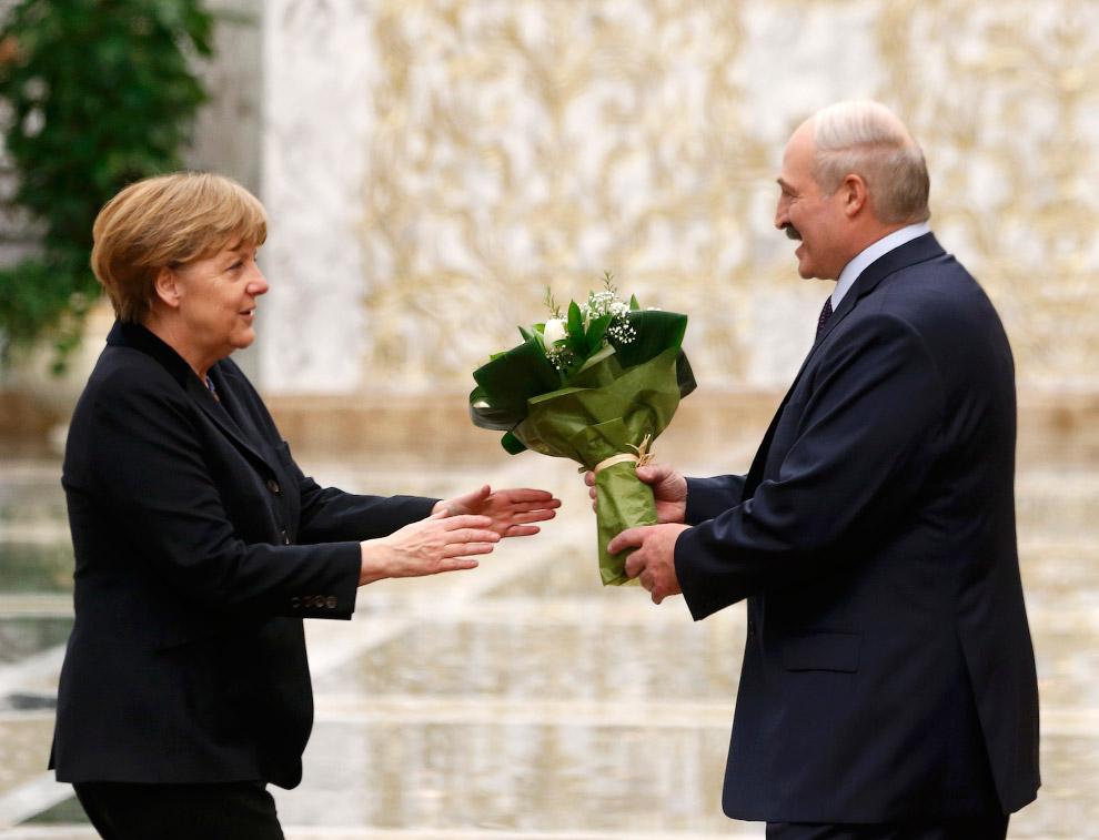 Президент Беларуси Александр Лукашенко и Ангела Меркель