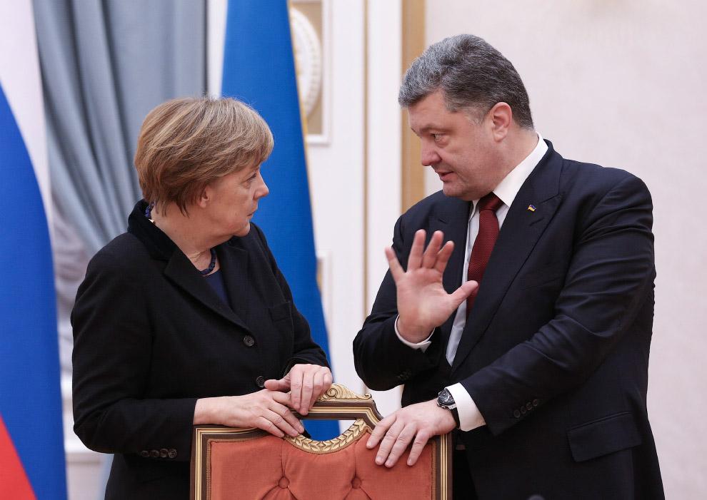 Канцлер Германии Ангела Меркель и Петр Порошенко