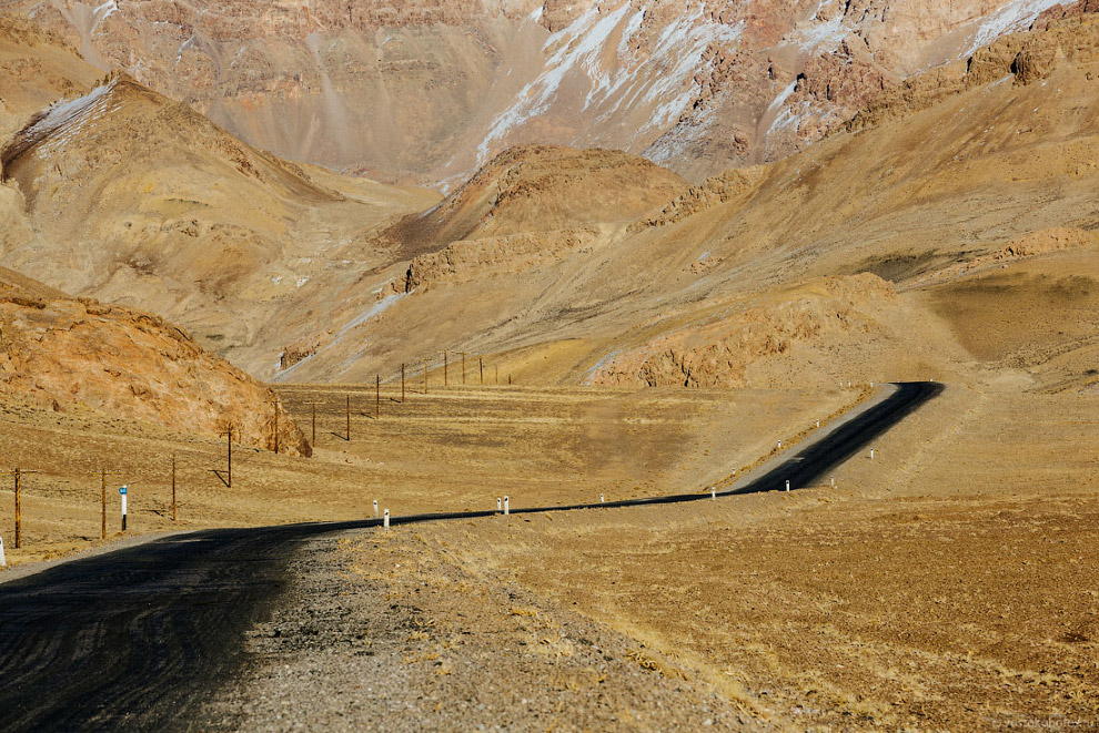 Постепенный набор высоты к перевалу Джаман-тал
