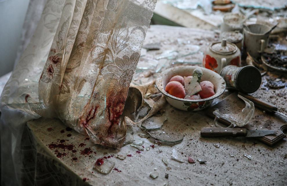 Кухня в жилом доме в центре Донецка