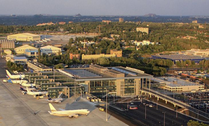 Донецкий аэропорт с высоты птичьего полета