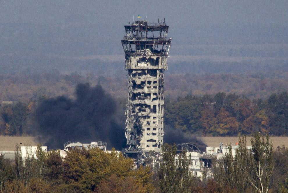Диспетчерская аэропорта в Донецке