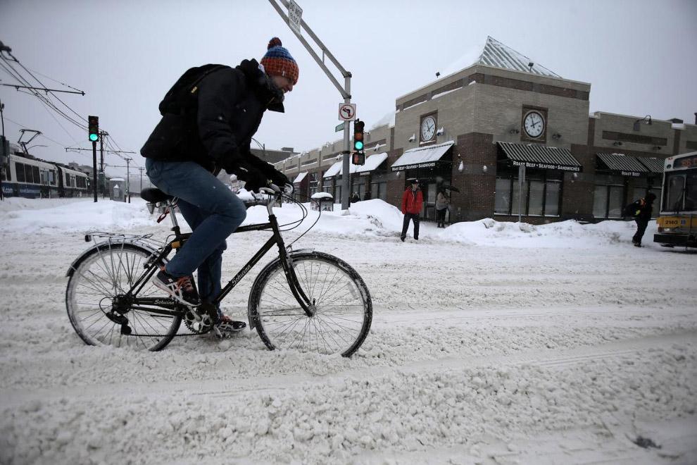 Дороги на северо-востоке США чистят ничуть не лучше наших