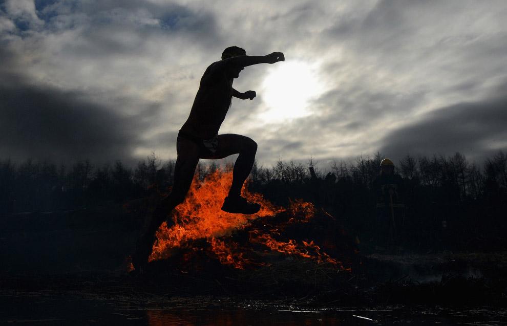 Препятствие с огнем