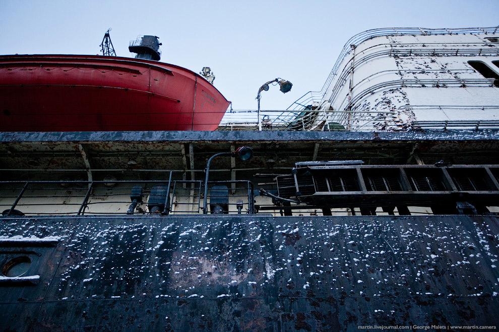 Спасательные шлюпки на ледоколе «Сибирь».