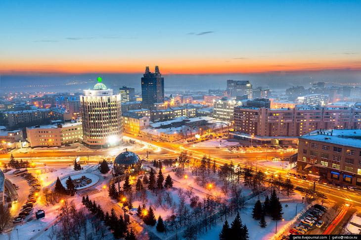 Зима в Новосибирске 2015