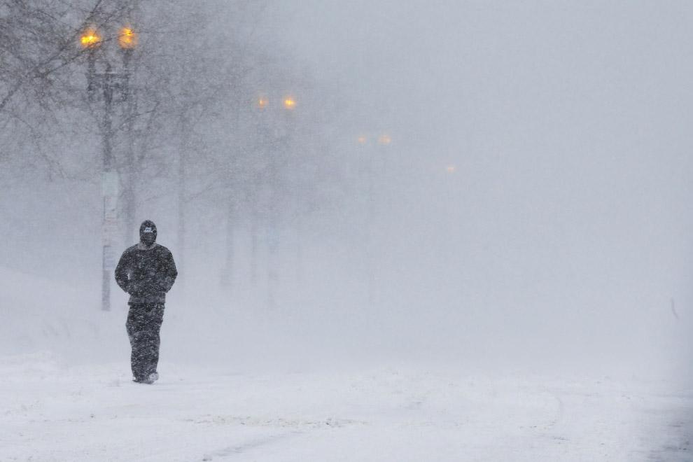 Снежная буря в Бостоне