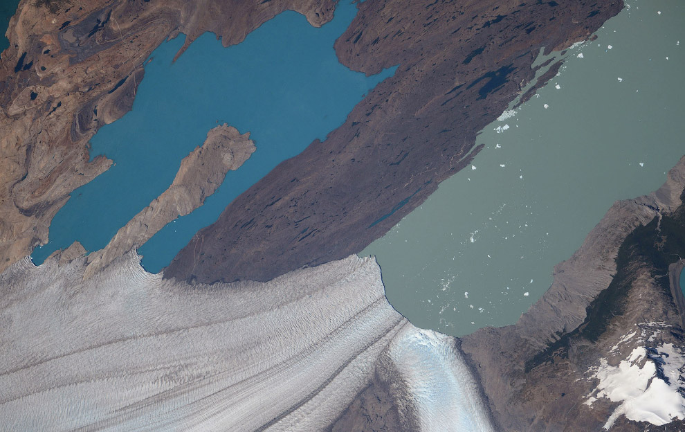 Geleiras, perto da fronteira da Argentina e Chile