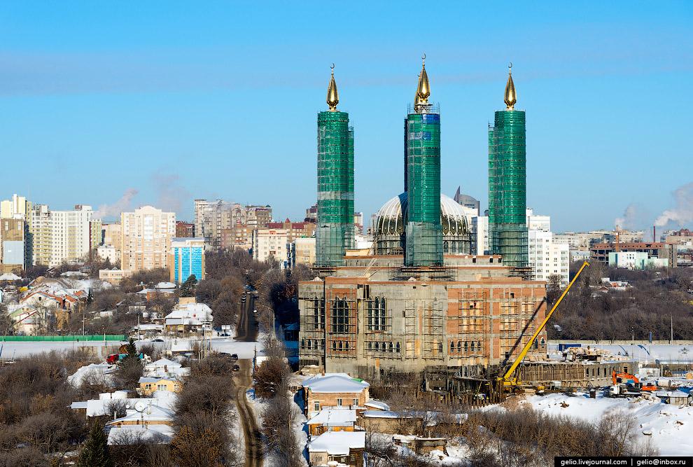 Строящаяся мечеть имени Салавата Юлаева