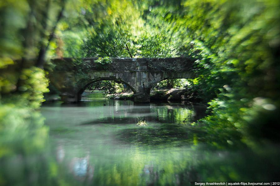 Черная речка и заброшенный акведук времен Крымской войны