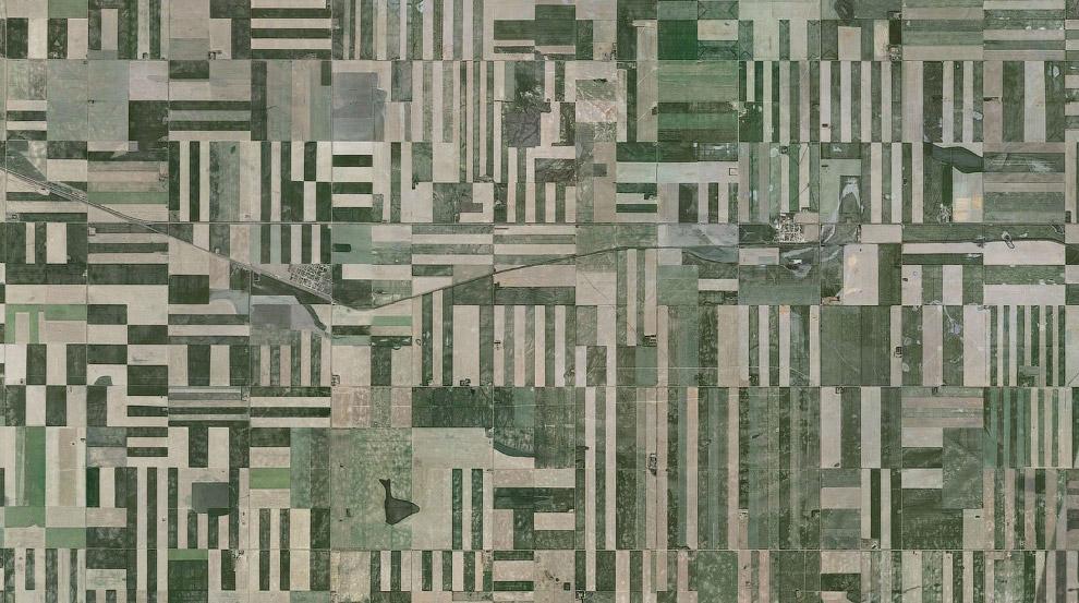 Сельскохозяйственные поля в провинции Саскачеван