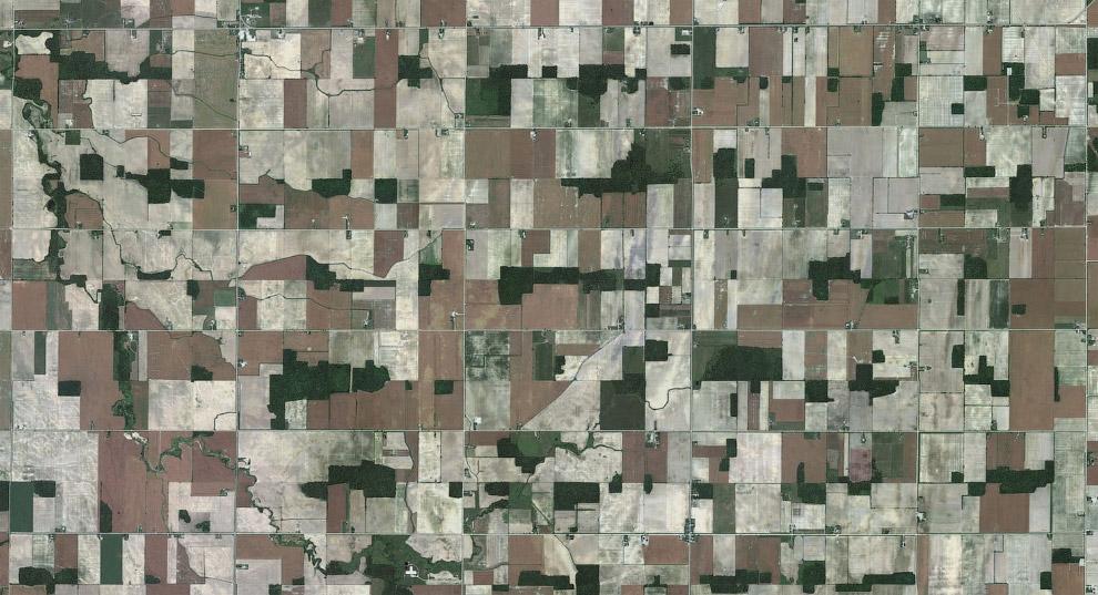 Сельскохозяйственные поля и ручьи в Онтарио