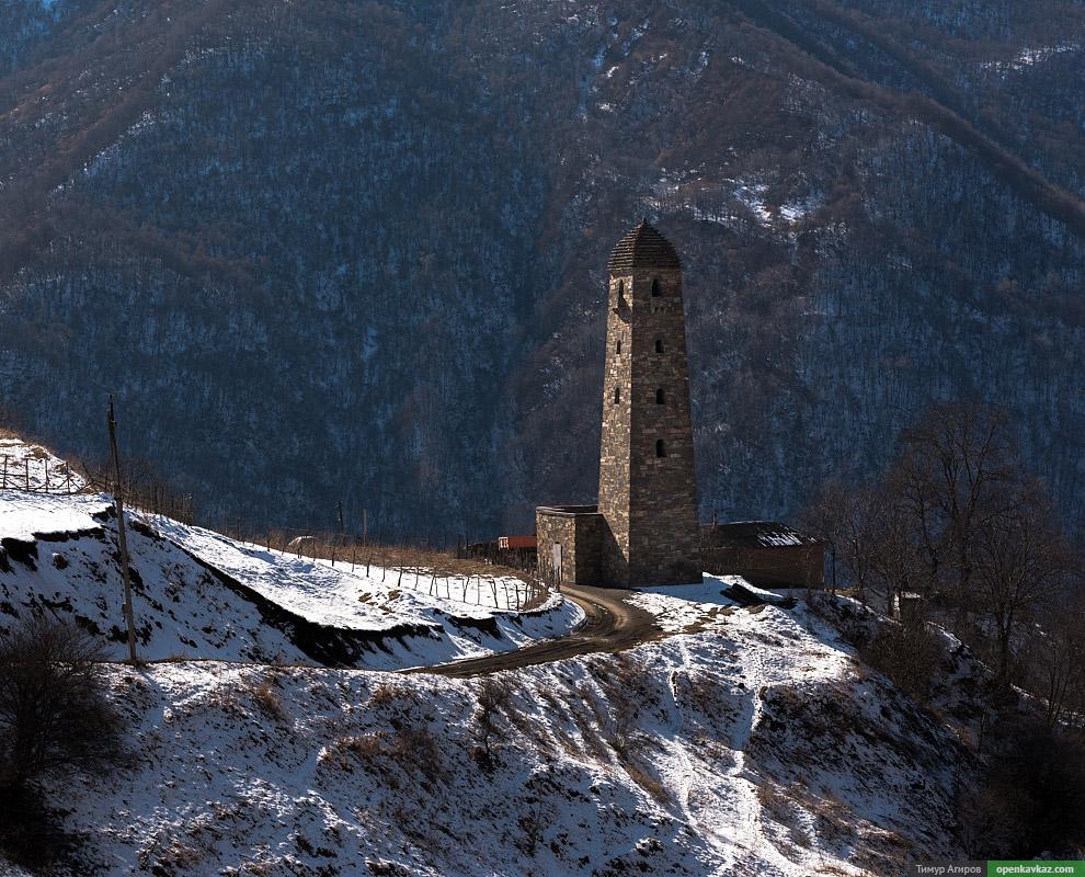 Башня в селе Ведучи.