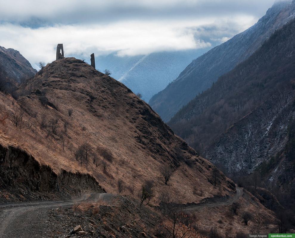 Развалины башен Эльдепхарой.