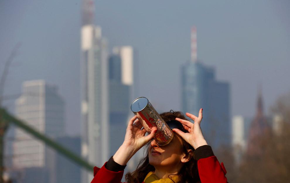 Солнечное затмение во Франкфурте